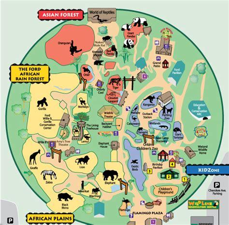 Image   Zoo atlanta map.png   List of Major Zoos in the U ...