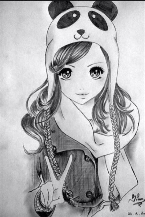 Imagen de drawing, panda, and draw | Dibujos ...