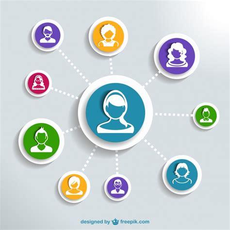 Imagen vectorial de redes sociales   Descargar Vectores gratis