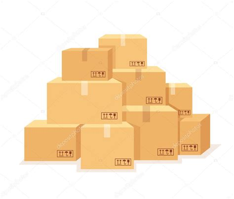 Imágenes: cajitas de carton animadas | Set de cajas de ...