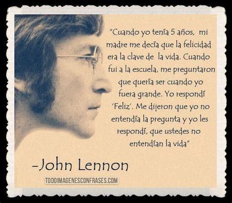 Imágenes con frases de John Lennon sobre la felicidad