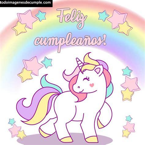 Imágenes de feliz cumpleaños con unicornios