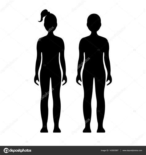 Imágenes: de silueta de niño y niña | Niño y niña. Humana ...