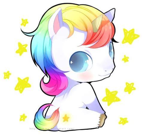 Imágenes de Unicornios kawaii animados y para Dibujar ω
