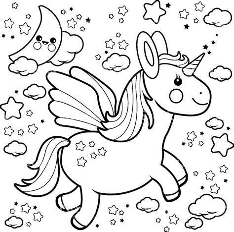 Imagenes de unicornios para imprimir y colorear