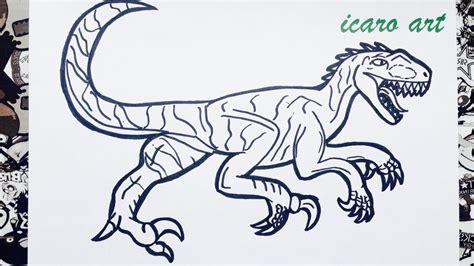 imagenes de velociraptor blue para colorear