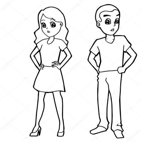 Imágenes: dibujo de niño y niña | dibujos animados niño ...