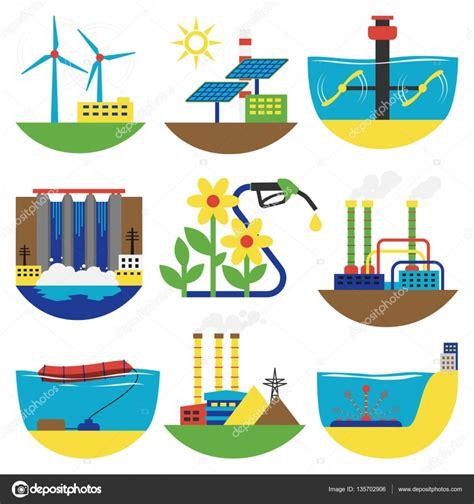 Imágenes: fuente de energia alternativa   Ilustración de ...