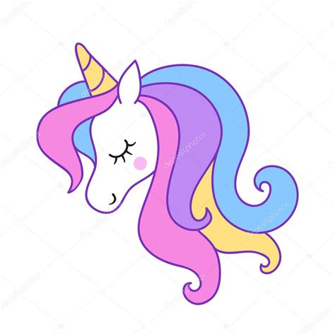 Imágenes: imajen de unicornio | Cabeza Unicornio Elemento ...