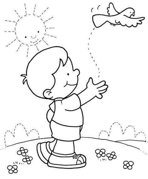 Imágenes infantiles del Día del Niño para colorear e ...