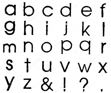 Imágenes: letra minúscula en inglés   Aislado de las ...