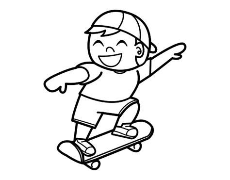 Imágenes para pintar de skate | Colorear imágenes