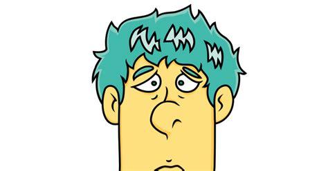 Imagenes Sin Copyright: Cara dibujada de un hombre aburrido