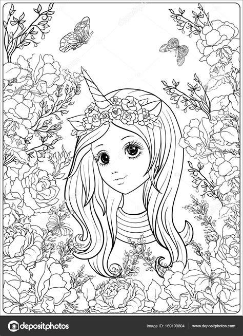 Imágenes: unicornios animados kawaii para colorear   Chica ...