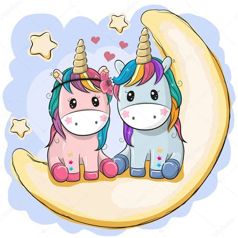 Imágenes: unicornios animados sentados | Dos lindos ...