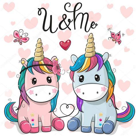 Imágenes: unicornios con corazones | Dos lindos unicornios ...