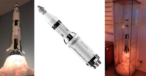 Immortalize the Apollo Saturn V With This Epic LEGO Set