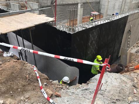 Impermeabilización muro sótano. Residencia jóvenes en ...