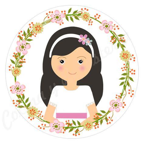 Impresión comunión niña con corona de flores.  Cocina y ...