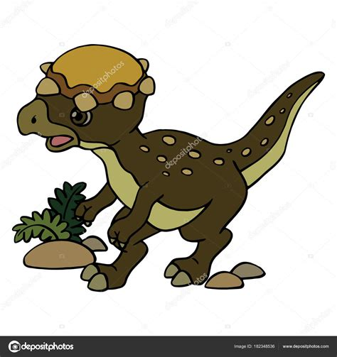 Impresiones Velociraptor Dibujos Animados Sobre Fondo ...