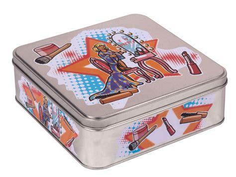 impresos de hojalata cajas de almacenaje decorativas para ...
