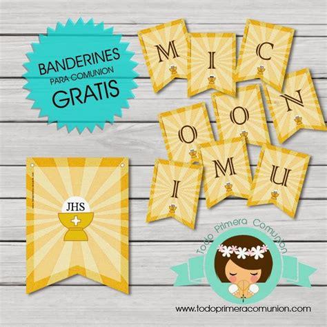 Imprimible Gratis: Banderines para Comunión   Todo Primera ...