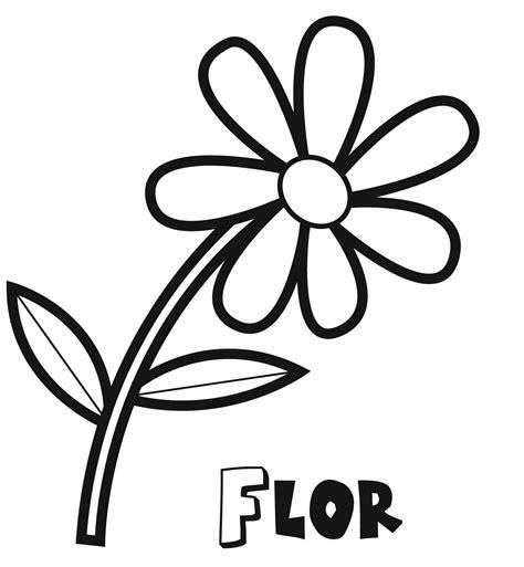 Imprimir: Dibujo de una flor de primavera para colorear