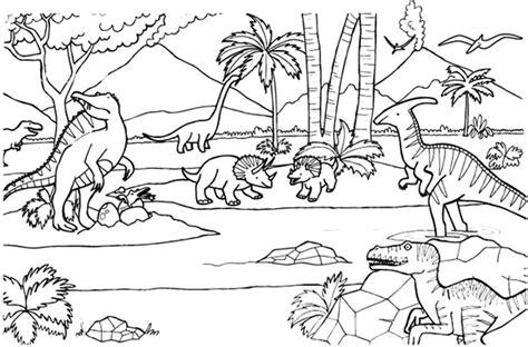 Imprimir: Dinosaurios: dibujo para colorear e imprimir