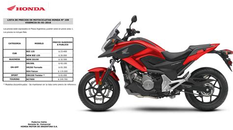 Impuestos internos: las motos de Honda aumentaron 14% ...