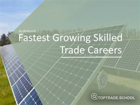 In Demand: Fastest Growing Skilled Trades | Top Trade ...