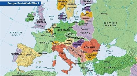 In what ways did the world map change following World War ...