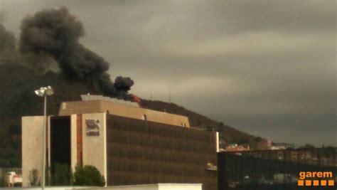 Incendio en la Nestlé de Esplugues de Llobregat