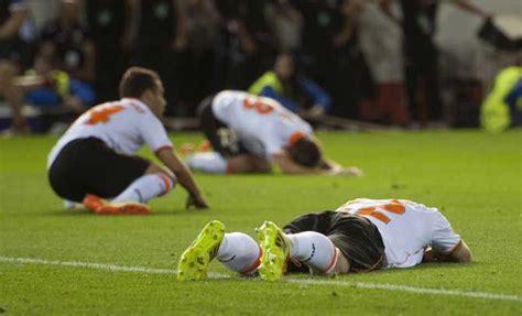Inconsolables: Valencia CF queda fuera de la Europa League ...