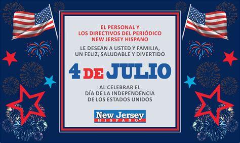 Independencia de EE.UU. ¡Feliz 4 de Julio!   New Jersey ...