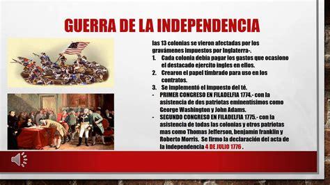 INDEPENDENCIA DE ESTADOS UNIDOS  1776 1783    YouTube