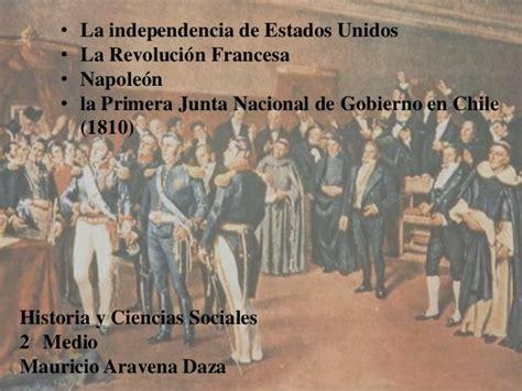 Independencia de USA   Revolución Francesa   Primera Junta ...