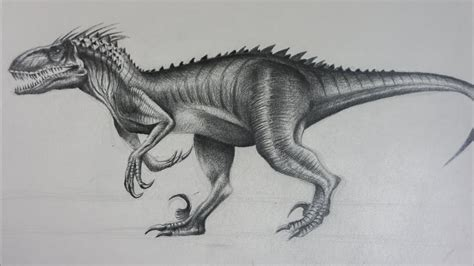 Indoraptor de Jurassic World 2   Dibujo a Lápiz   YouTube
