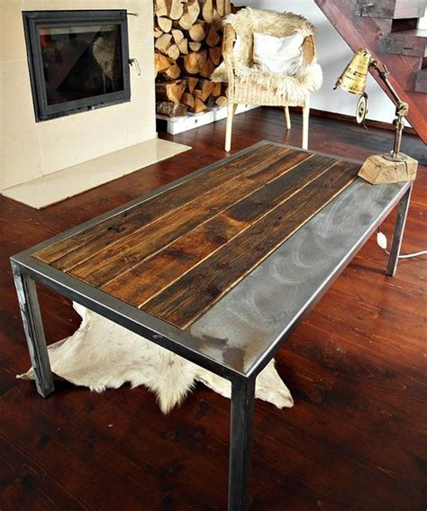 Industrial vintage style coffee table, made from reclaimed ...