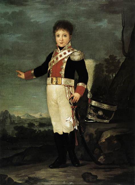 Infante Don Sebastián Gabriel de Borbón y Braganza, 1822 ...