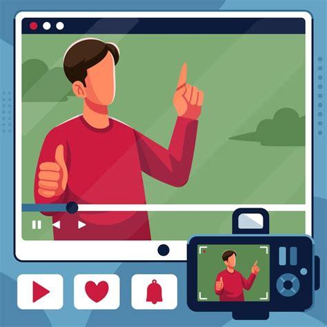 Influencer che registra un nuovo video | Vettore Gratis