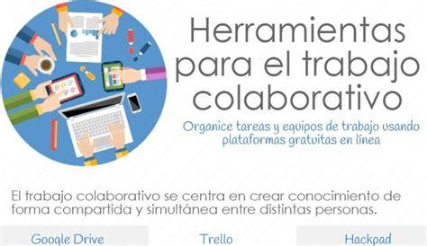 Infografía con 6 herramientas de trabajo colaborativo ...