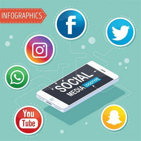 Infografía con símbolos de redes sociales   Descargar ...