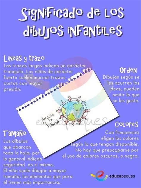 Infografías significado de los dibujos infantiles  con ...