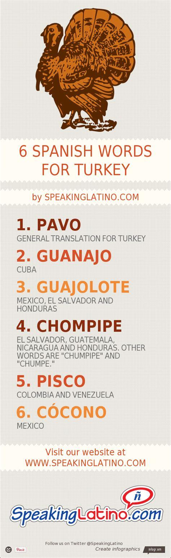 Infographic: 6 Spanish Language Words for TURKEY
