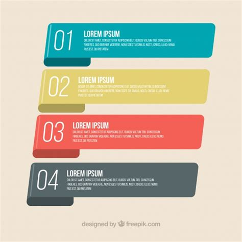 Infographic banners with classic design Vector | Free Download