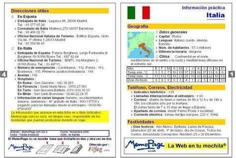 Información útil sobre Italia. Guía de viajes. Idioma italiano