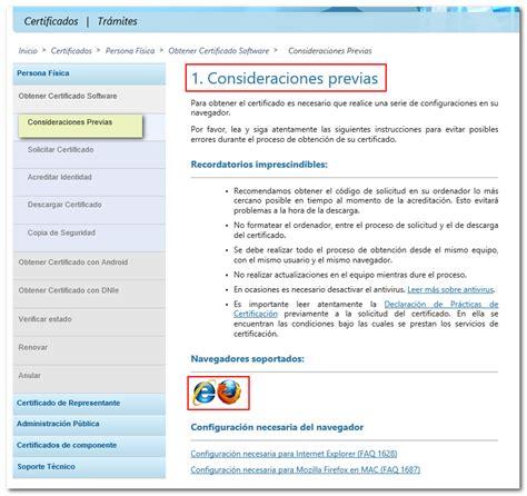Información y pasos para la obtención de un certificado ...