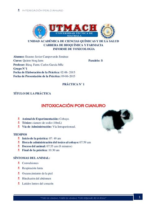 Informe 1 cianuro