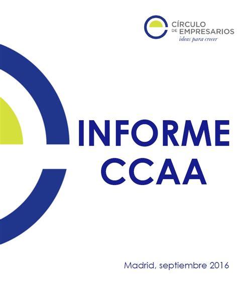 Informe CCAA con más peso en el PIB   Círculo de Empresarios