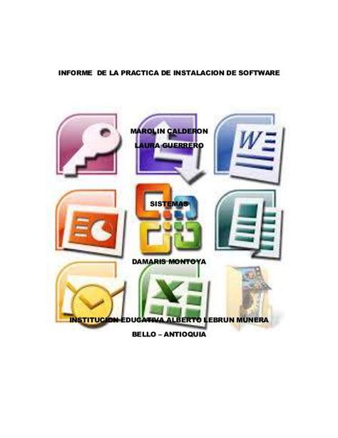 Informe de la practica de instalacion de software  1